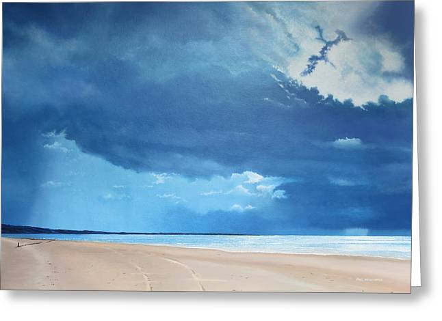 Summer Blues Greeting Card by Paul Newcastle