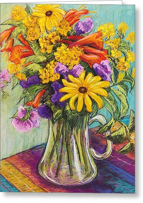 Summer Bouquet Greeting Card by Candy Mayer