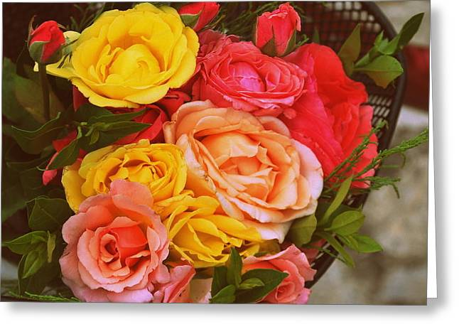 Summer Bouquet Greeting Card by Marija Djedovic