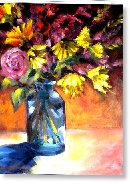 Summer Bouquet Greeting Card by Paula Strother