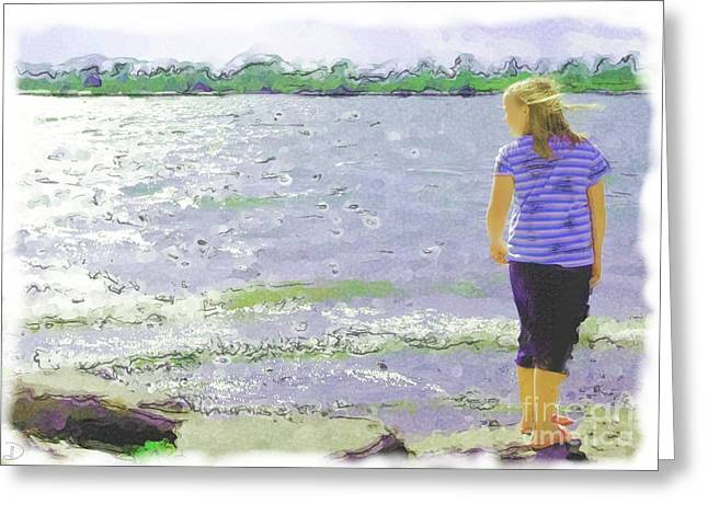 Greeting Card featuring the photograph Summer Breeze by Debi Dmytryshyn