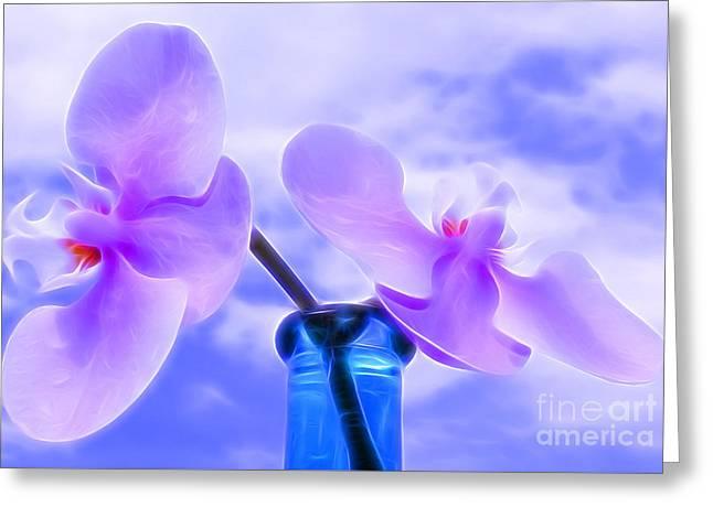 Summer Breeze Greeting Card by Krissy Katsimbras