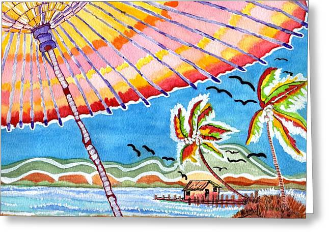 Summer Breezes Greeting Card by Connie Valasco