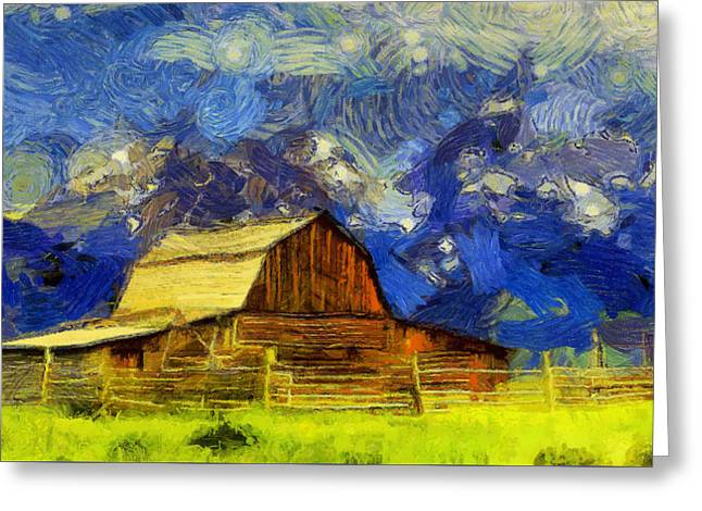 Summer Cabin In The Tetons Greeting Card