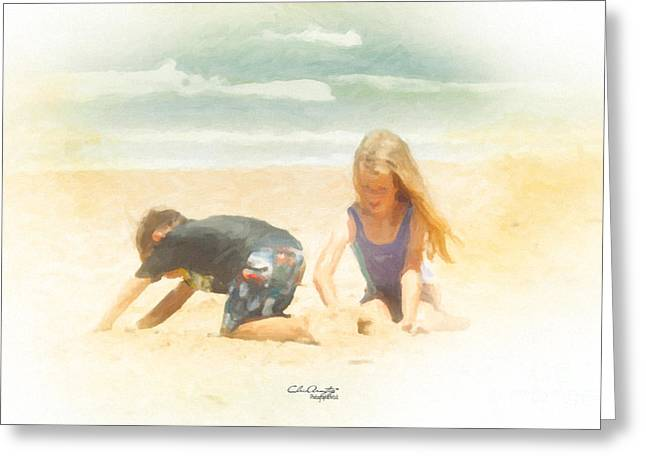 Greeting Card featuring the painting Summer by Chris Armytage