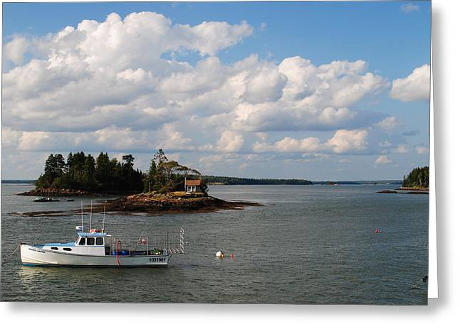 Summer Clouds Downeast Greeting Card by Steven Scott