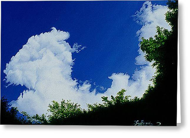 Summer Clouds IIi Greeting Card by Gary  Hernandez