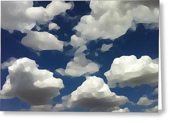 Summer Clouds In A Blue Sky Greeting Card
