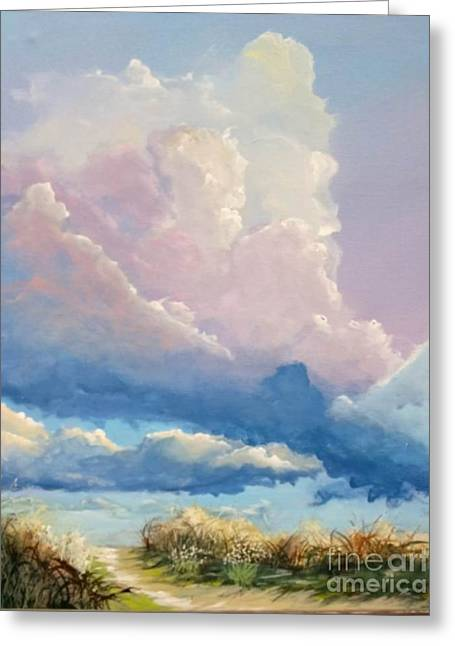 Summer Clouds Greeting Card by John Wise