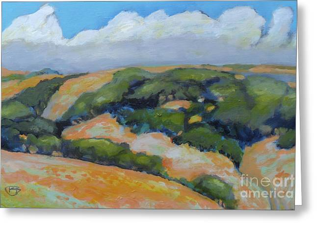 Summer Clouds Over Foothills Greeting Card by Kip Decker