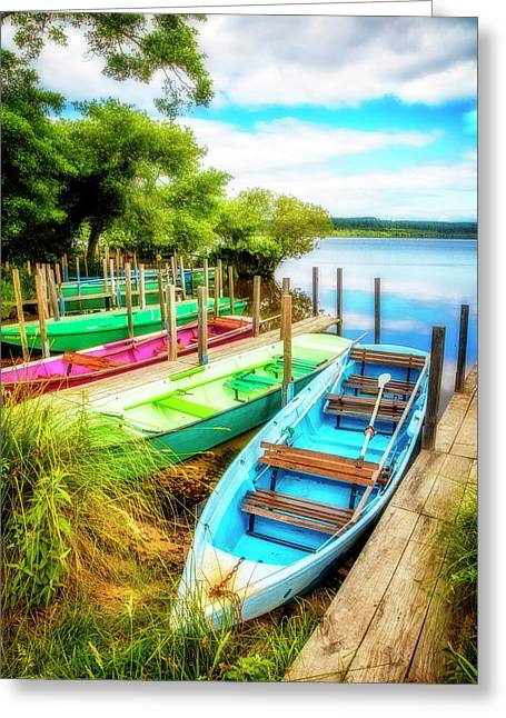 Summer Colors Greeting Card by Debra and Dave Vanderlaan