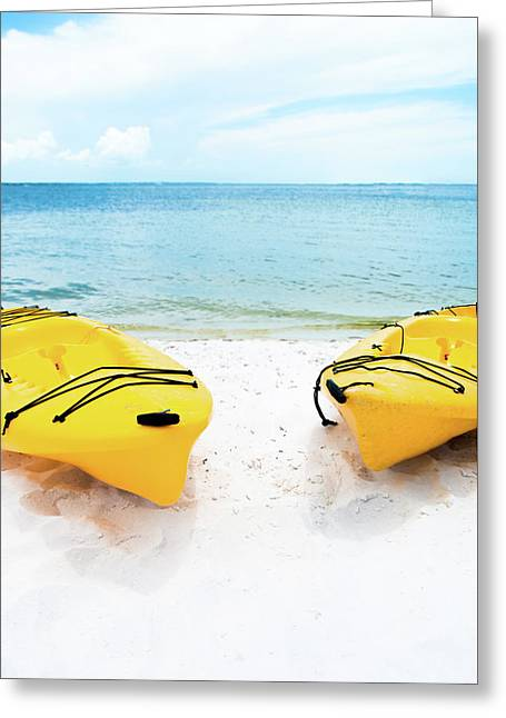 Greeting Card featuring the photograph Summer Colors On The Beach by Shelby Young