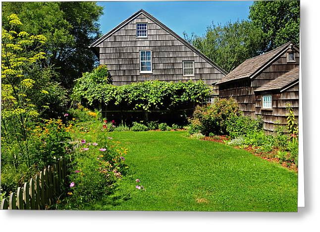 Summer Cottage Greeting Card by JoAnn Lense