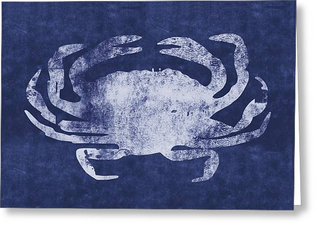 Summer Crab- Art By Linda Woods Greeting Card