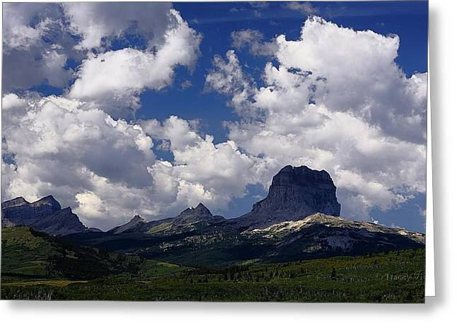 Summer Day At Chief Mountain Greeting Card