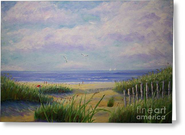 Summer Day At The Beach Greeting Card