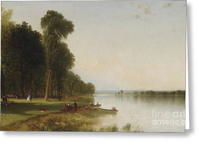 Summer Day On Conesus Lake, 1870 Greeting Card