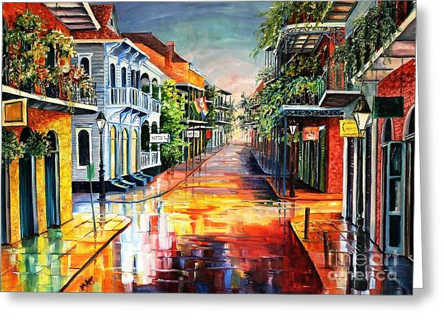 Summer Day On Royal Street Greeting Card by Diane Millsap