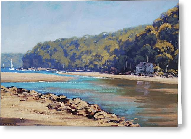 Summer Day Patonga Nsw Australia Greeting Card by Graham Gercken