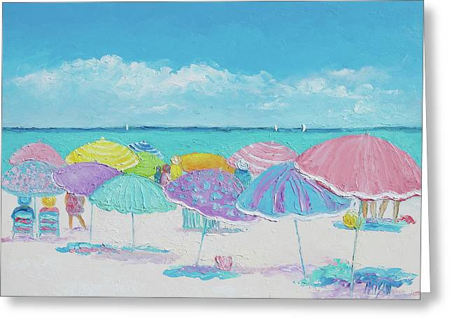 Summer Days Drifting Away Greeting Card by Jan Matson
