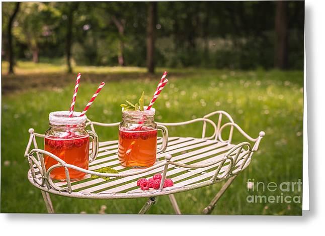 Summer Drinks Greeting Card by Amanda Elwell
