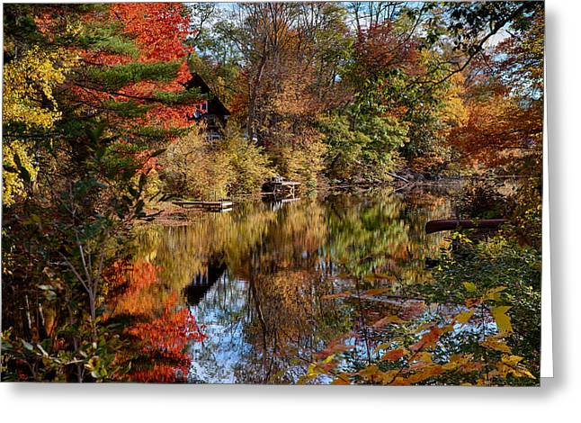 Summer Ends In A Fall Color Reflection Greeting Card