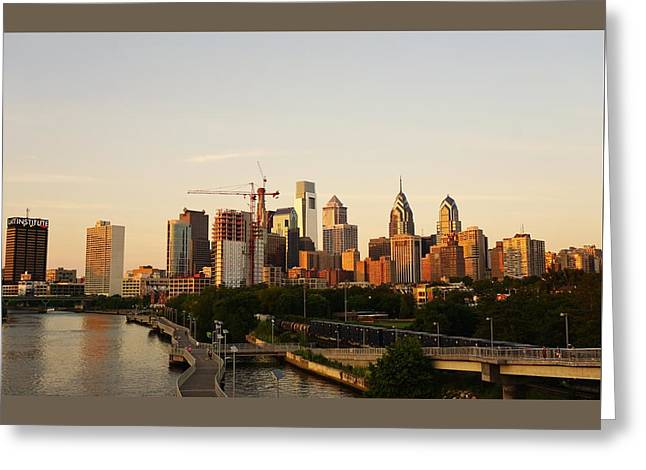 Summer Evening In Philadelphia Greeting Card