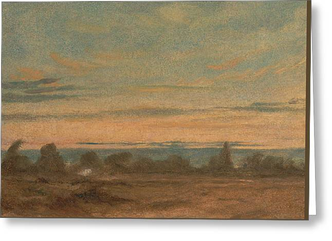 Summer Evening Landscape Greeting Card by John Constable