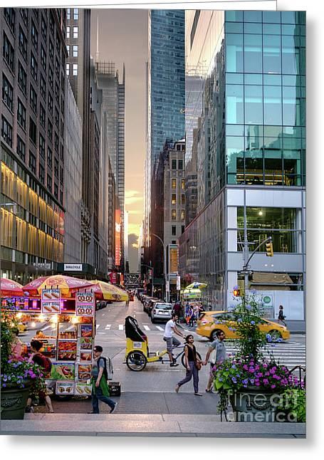 Summer Evening, New York City  -17705-17711 Greeting Card