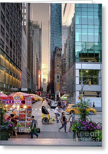 Summer Evening, New York City  -17705-17711 Greeting Card