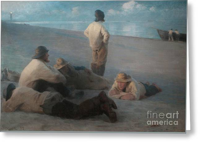 Summer Evening On The Beach At Skagen, 1884  Greeting Card