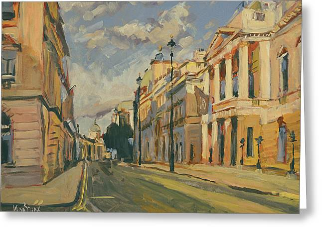 Summer Evening Pall Mall London Greeting Card