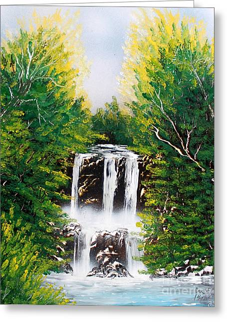 Summer Falls Greeting Card by Greg Moores