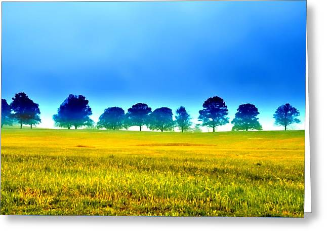Summer Field Greeting Card by Bill Cannon