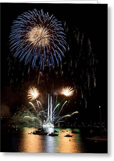 Summer Fireworks I Greeting Card by Helen Northcott