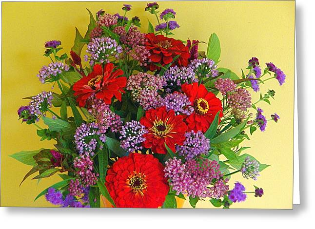Greeting Card featuring the photograph Summer Flower Bouquet by Byron Varvarigos