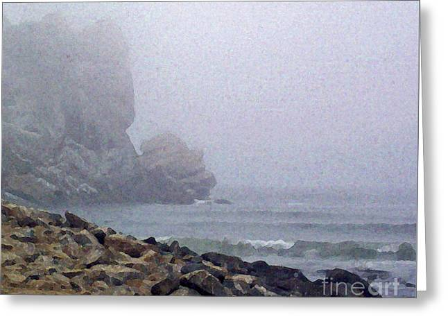 Summer Fog At The Beach Greeting Card