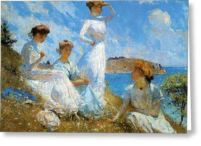 American Artist Greeting Cards - Summer Greeting Card by Frank Weston Benson