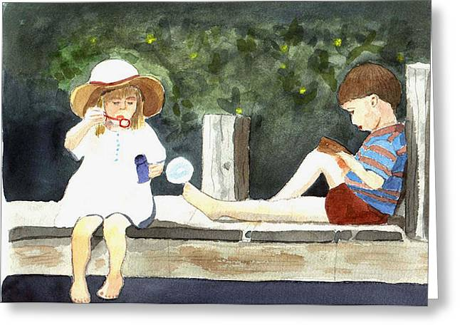 Summer Friends Greeting Card by Jane Croteau
