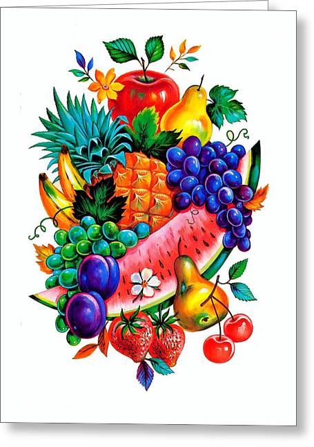 Summer Fruits Greeting Card