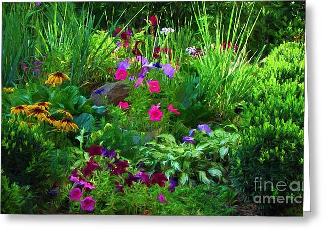 Summer Garden In Bloom Greeting Card