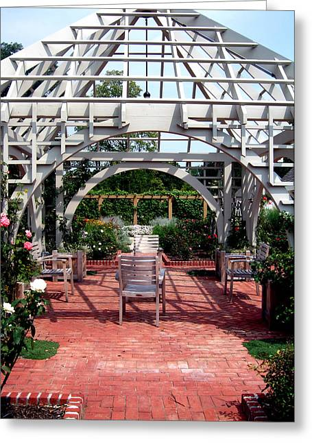 Summer Gazebo Of Franklin Park Conservatory Greeting Card