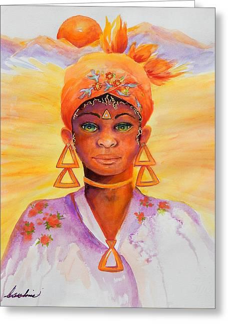 Summer Goddess Greeting Card