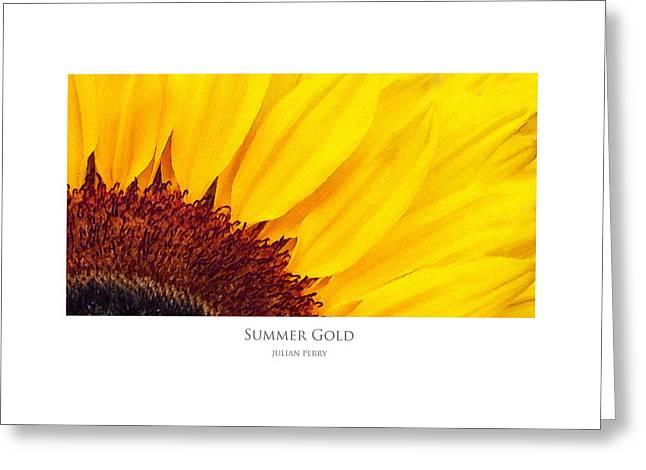 Summer Gold Greeting Card
