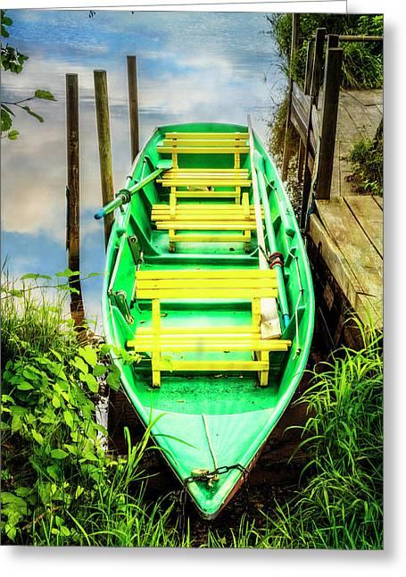 Summer Green Greeting Card by Debra and Dave Vanderlaan