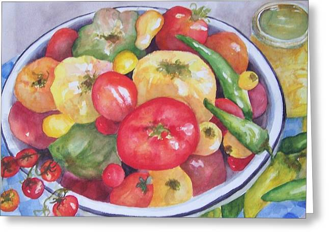 Summer Harvest Greeting Card by Sandy Collier