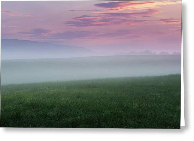 Summer Hills Sunrise Square Greeting Card by Bill Wakeley