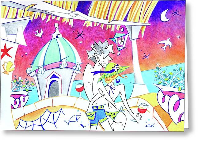 Summer Holidays Love Italy - Relax Enjoy Life Greeting Card by Arte Venezia