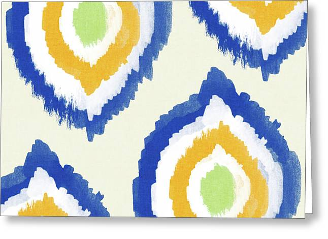 Summer Ikat- Art By Linda Woods Greeting Card by Linda Woods