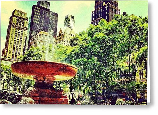 Summer In Bryant Park Greeting Card